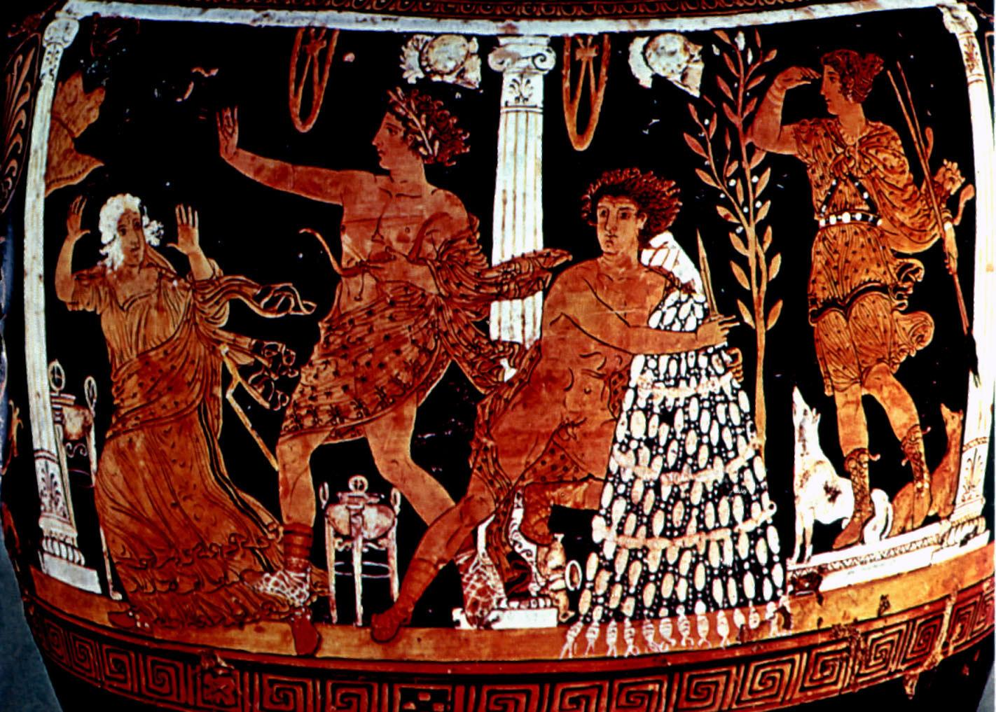 Apollón radí Orestovi prostřednictvím Pýthie