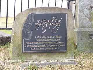 Pomník čarodějnických procesů v Sobotíně